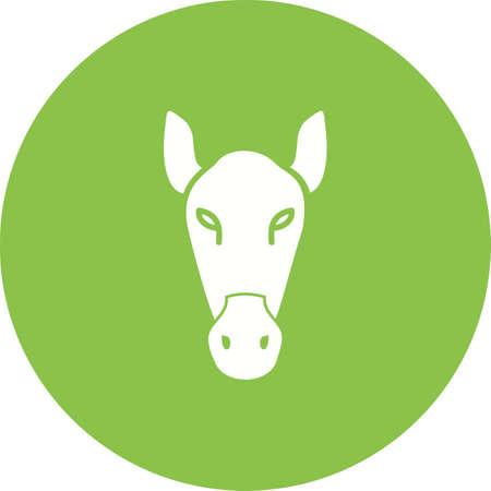 Horse face icon image illustration Illustration