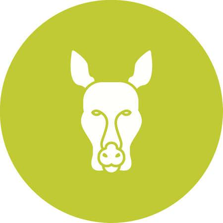 Kangaroo face icon image illustration 일러스트
