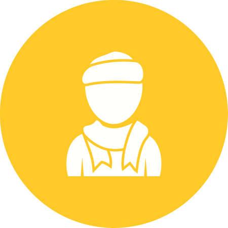 Boy in carf image profile illustration
