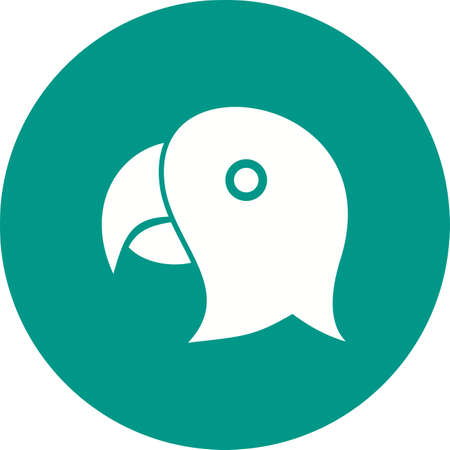 Parrot face icon illustration