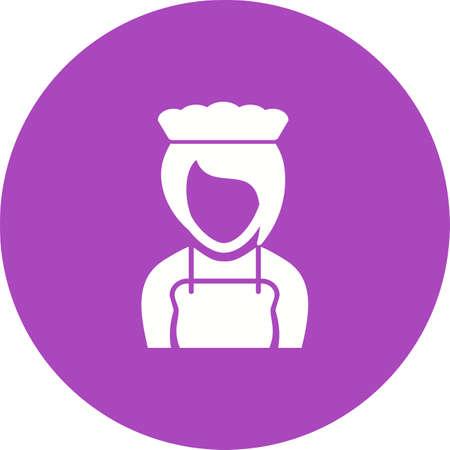 Girl as waitress icon.
