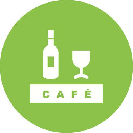 Drinks cafe icon. Stock Illustratie