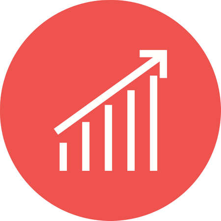 Upward trend chart illustration