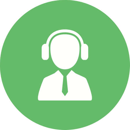 Customer service agent Listening Icon illustration Illustration