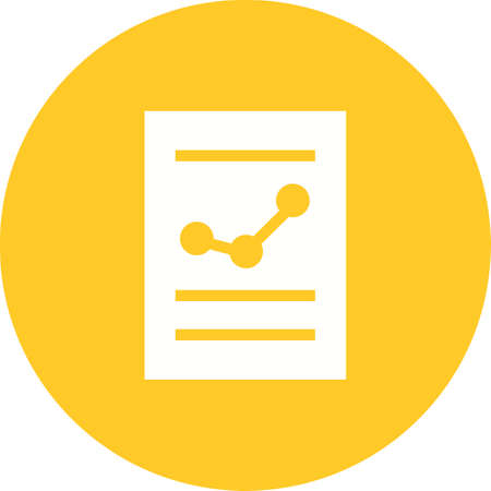 Financial Report Icon with chart illustration