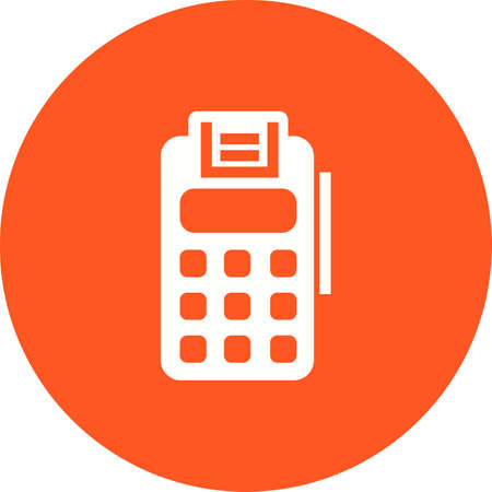 Utility Bill Payment with terminal illustration Ilustracja