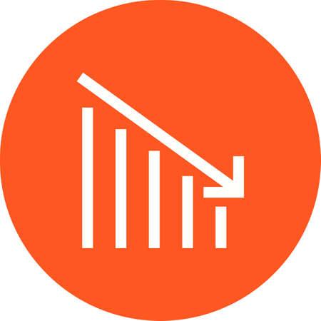 Crisis, bank, economic icon vector image.