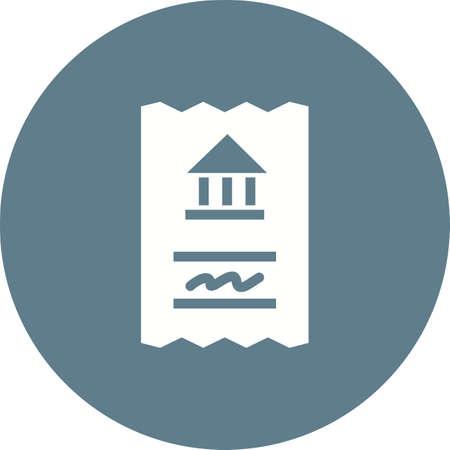 Draft, book, money icon vector image.