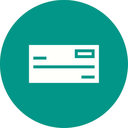 Cheque, cheque-book, banking icon vector image.