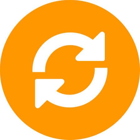 Refresh page icon. Ilustração