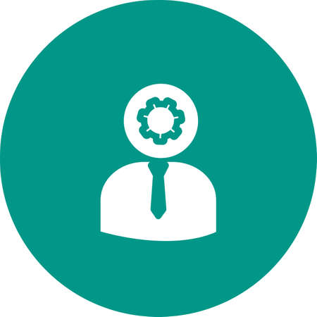 Admin Roles Icon on colored backdrop illustration.