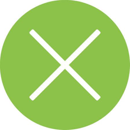 Cancel, Delete Icon Illustration