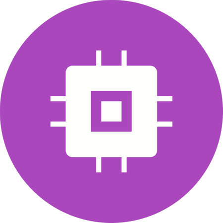 Chip, Circuit Icon illustration Çizim