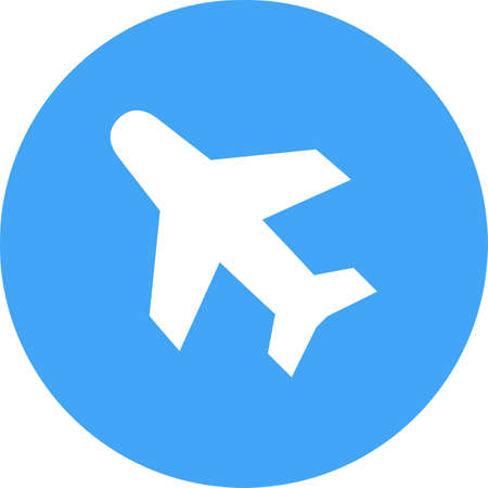 Airplane icon Vector illustration. Illustration