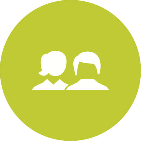 Man and woman client icon Illustration