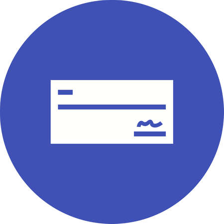 Signed Check icon Illustration