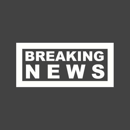 News breaking live icon vector image. Can also be used for news and media. Suitable for mobile apps, web apps and print media. Stock Illustratie