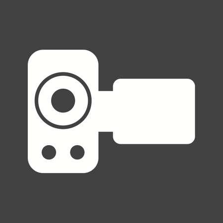 Handy Camera photo icon vector image. 일러스트