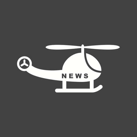News, camera, helicopter icon vector image. Can also be used for news and media. Suitable for mobile apps, web apps and print media. Stock Illustratie