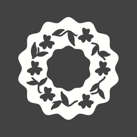 Funeral, wreath, flowers icon vector image.Can also be used for funeral. Suitable for mobile apps, web apps and print media. Ilustração