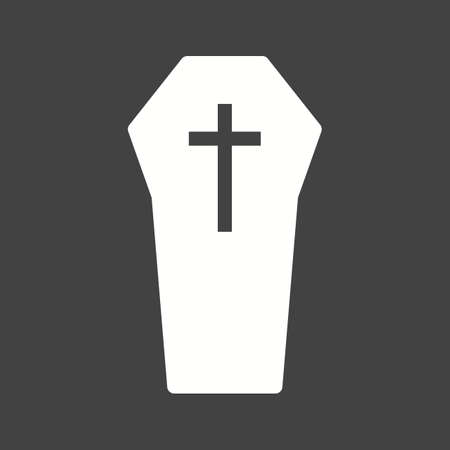 Funeral coffin icon vector image.
