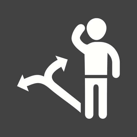 Decision Making Skills icon vector illustration Illustration