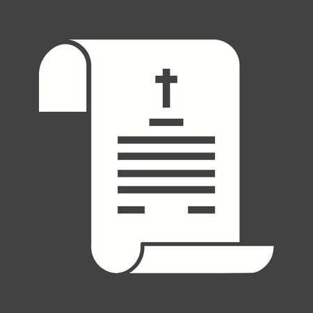 Death Certificate icon vector illustration