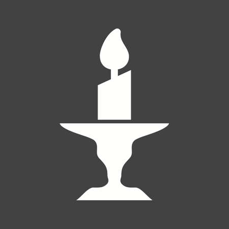 Candle on Stand icon vector illustration