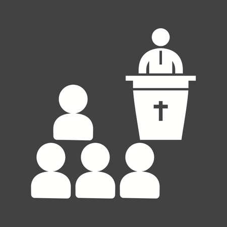 Funeral Sermon icon vector illustration