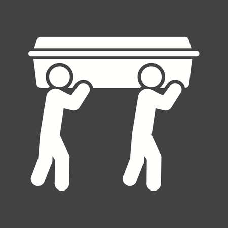 Carrying Casket icon vector illustration