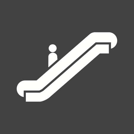 Escalator icon vector illustration