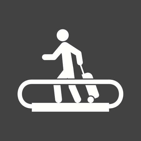 Horizontal Escalator icon illustration