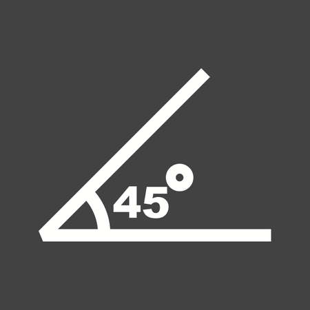 45 degrees icon illustration 向量圖像