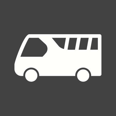 Airport bus for passengers icon vector image.