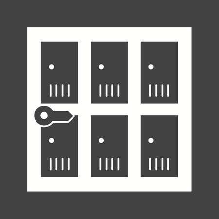 Lockers icon illustration