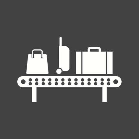 Luggage Carousel icon illustration Çizim