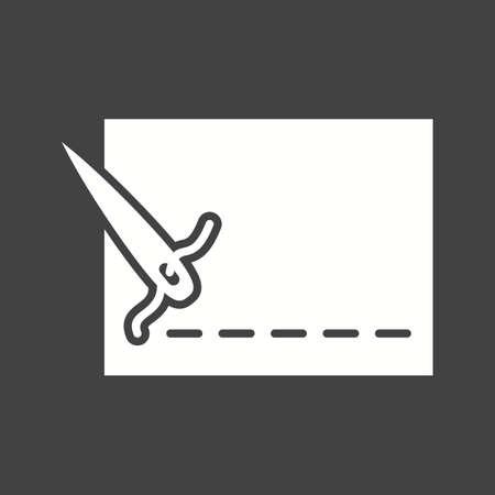 Stitch thread line icon vector image.