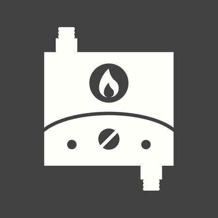 Water heater tank-less icon vector image. Can also be used for Climatic Equipment. Suitable for use on web apps, mobile apps and print media.