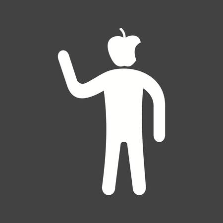 Health Conscious icon with man in apple head