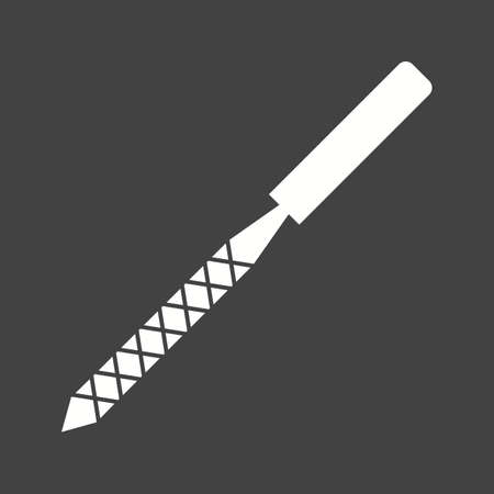 Rasp metal flat Icon isolated on black background. Vector illustration.