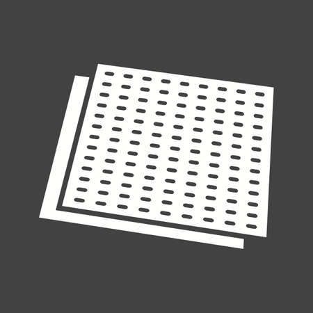 Sandpaper refinishing surface Icon isolated on black background. Vector illustration. Иллюстрация