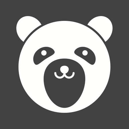 Bear face simple icon