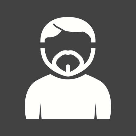 Man with French beard icon.