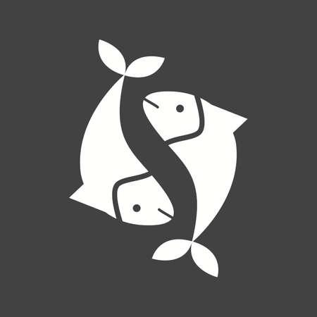 Pisces sign, zodiac Illustration