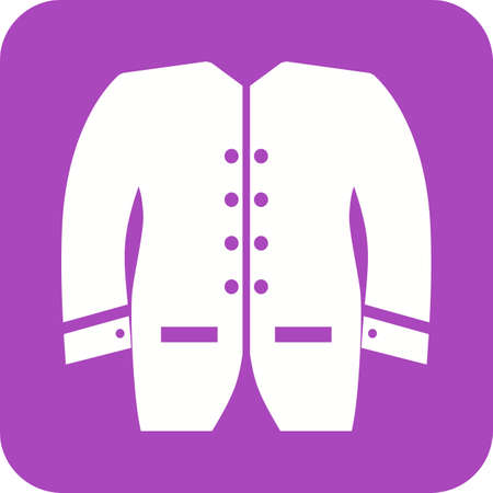 Mens Jacket Icon vector illustration on plain purple background