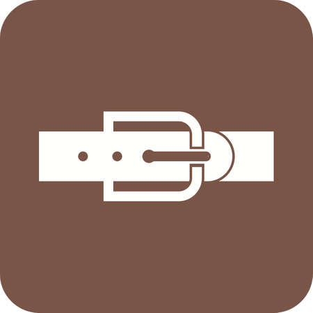 Belt I Icon vector illustration on plain background