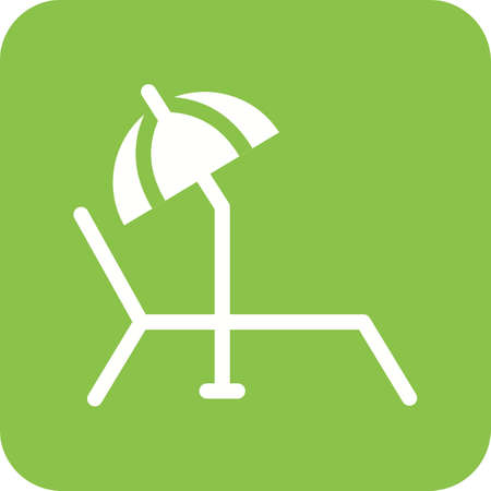 Sunbathing Chair icon Vector illustration isolated on background.