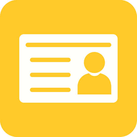 Student ID Card icon in white and yellow.