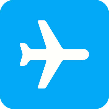 Aeroplane mode icon in blue and white. Illustration