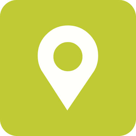 Location service or navigation pin icon in green and white.